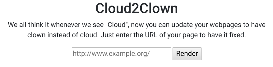 Cloud2Clown
